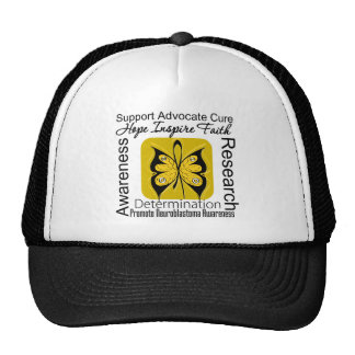 Supportive Words Collage Neuroblastoma Mesh Hats
