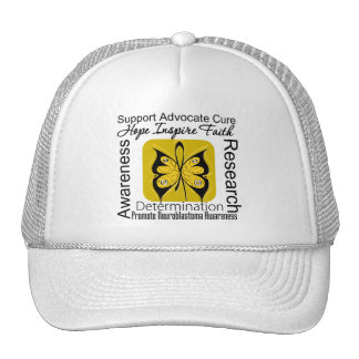 Supportive Words Collage Neuroblastoma Mesh Hat