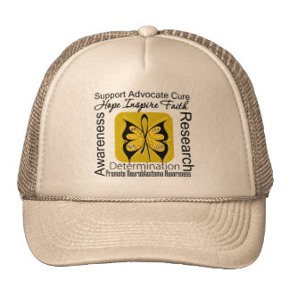 Supportive Words Collage Neuroblastoma Hats