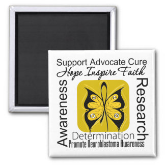 Supportive Words Collage Neuroblastoma Fridge Magnets