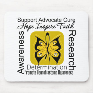 Supportive Words Collage Neuroblastoma Mouse Pad