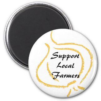 SupportLocalFarmers 6 Cm Round Magnet