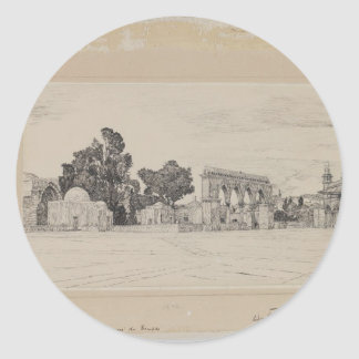 Supposed Site of the Temple by James Tissot Round Sticker