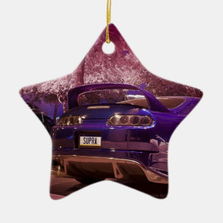 Supra Photography Double-Sided Star Ceramic Christmas Ornament