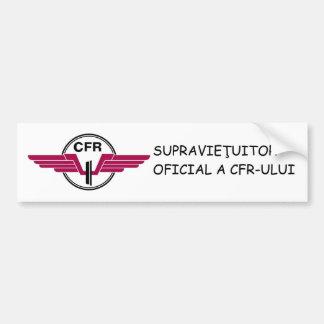 SUPRAVIEŢUITOR CFR - Bumper Sticker
