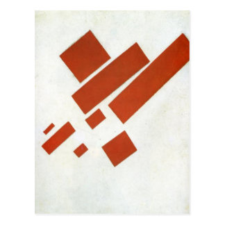 Suprematism. Two Dimensional Self Portrait Postcard