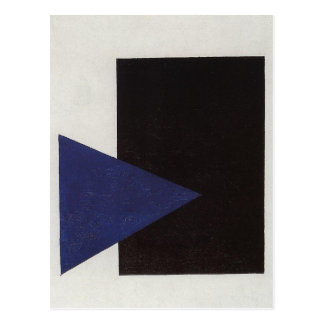 Suprematism with Blue Triangle and Black Square Postcard
