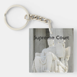 Supreme Court Single-Sided Square Acrylic Key Ring
