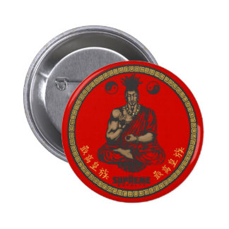 Supreme Royalty First Buddhist Button(Red,Gold) 6 Cm Round Badge