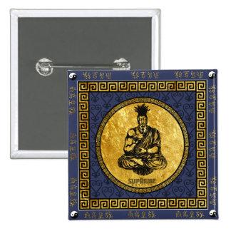 Supreme Royalty First Buddhist Button Square (BLU)