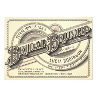 Supreme Vintage Bridal Brunch Invitations