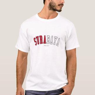 Surabaya in Indonesia national flag colors T-Shirt