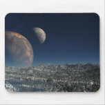 Surana Alien Landscape with Two Moons Mousepad