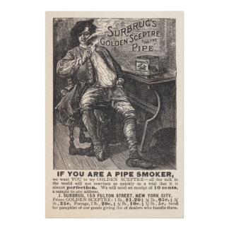Surbrug's Golden Sceptre Pipe Tobacco Ad From 1892 Poster