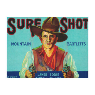 Sure Shot Pear Crate LabelPotter Valley, CA Canvas Print