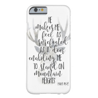 surefooted as a deer print, Christian Scripture Barely There iPhone 6 Case