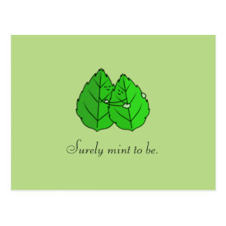 """Surely Mint to Be"" Postcard"