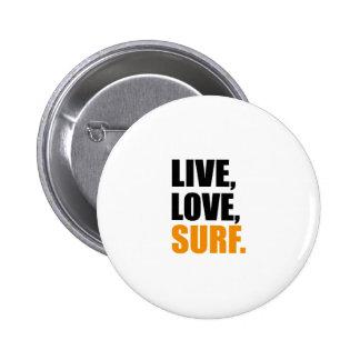 surf 6 cm round badge