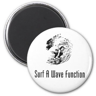 Surf A Wave Function 6 Cm Round Magnet