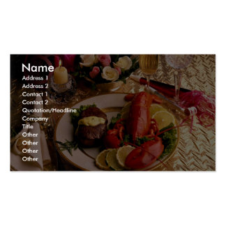 Surf and turf business card template