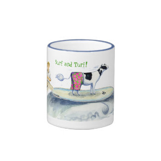 surf and turf ringer coffee mug