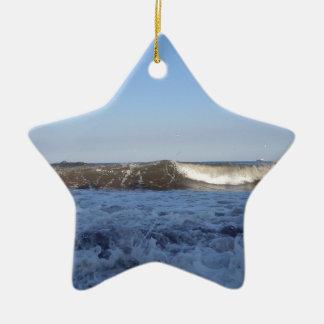 Surf At North Preston Beach In Paignton Christmas Ornament