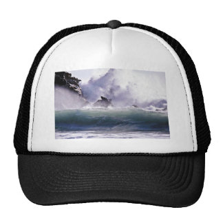 Surf At Pfeiffer - Big Sur State Beach Mesh Hat