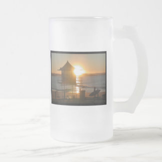 Surf at Sunset Frosted Beer Mug