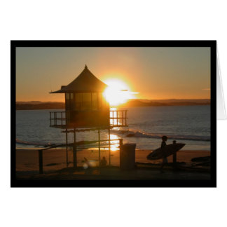 Surf at Sunset Greeting Card