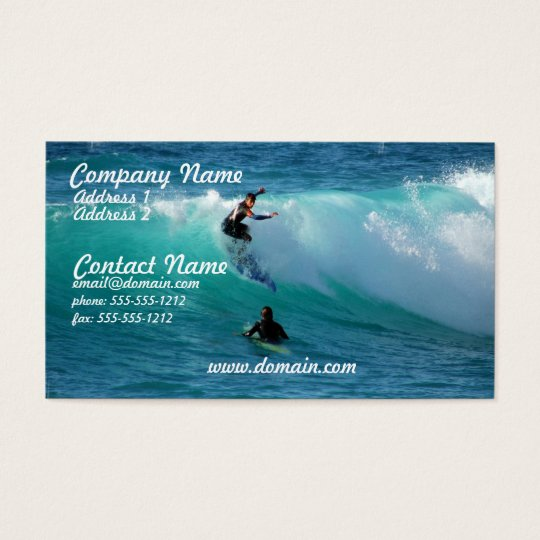 Surf Background Business Card