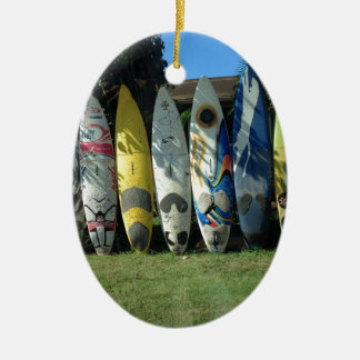 Surf Board Christmas Ornament