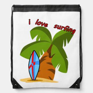 Surf Board Drawstring Backpack