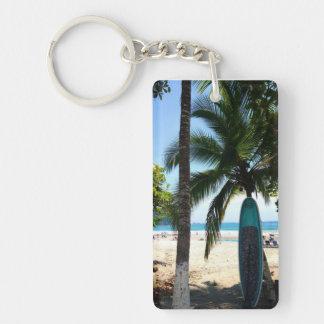 Surf Board Single-Sided Rectangular Acrylic Key Ring