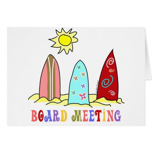 Surf Board Meeting Greeting Card
