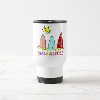 Surf Board Meeting Travel Mug