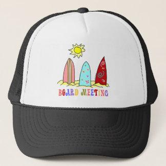 Surf Board Meeting Trucker Hat