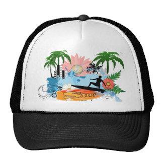 Surf boarder trucker hat