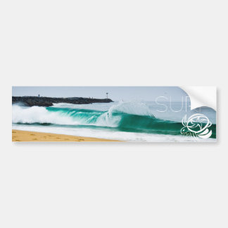 surf bumper car bumper sticker