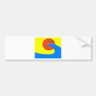 Surf Car Bumper Sticker