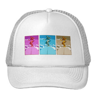 Surf California Californian surfers surfing gifts Trucker Hats