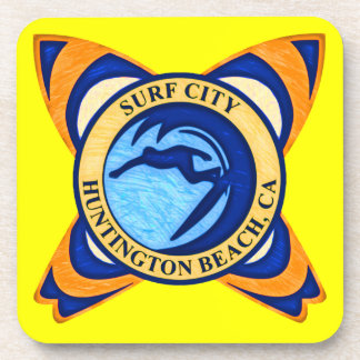 Surf City Huntington Beach CA Drink Coaster