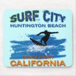 SURF CITY HUNTINGTON BEACH MOUSEPAD