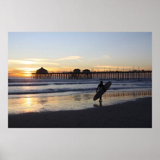"Surf City "" Low Tide Poster"