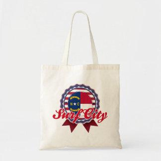 Surf City, NC Canvas Bag
