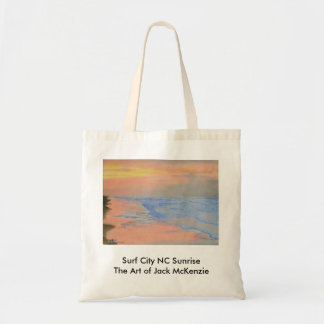 Surf City NC Sunrise Budget Tote Bag
