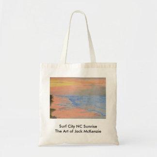 Surf City NC Sunrise Budget Tote Bag