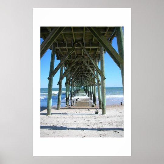 Surf City Pier Poster