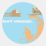 surf classic classic round sticker