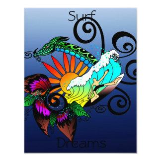 Surf Dreams Blue 11 Cm X 14 Cm Invitation Card