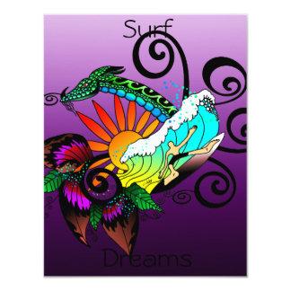 Surf Dreams Purple 11 Cm X 14 Cm Invitation Card